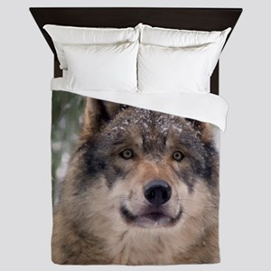 Wolf in Woods Queen Duvet